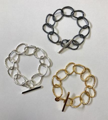 Medium Hoop Chain with Frame Bracelet