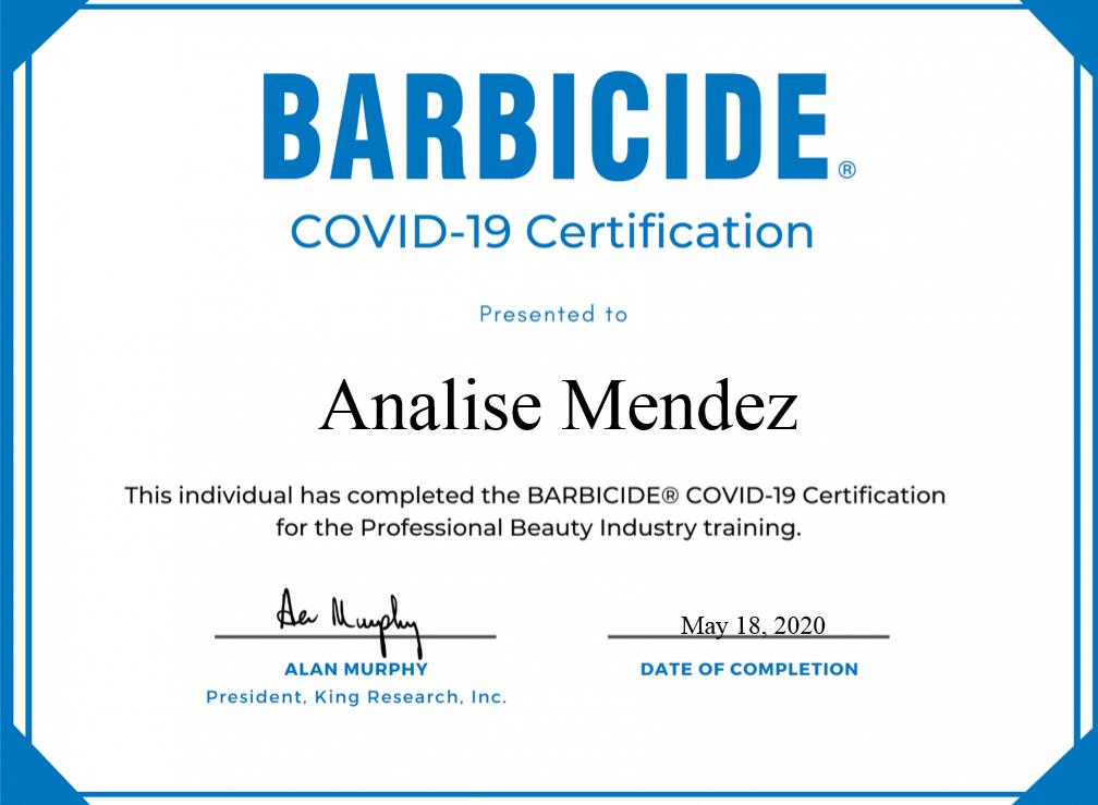 Barbacide Certified