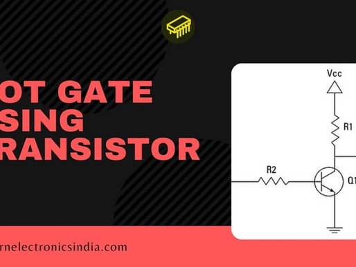 NOT Gate using a Transistor