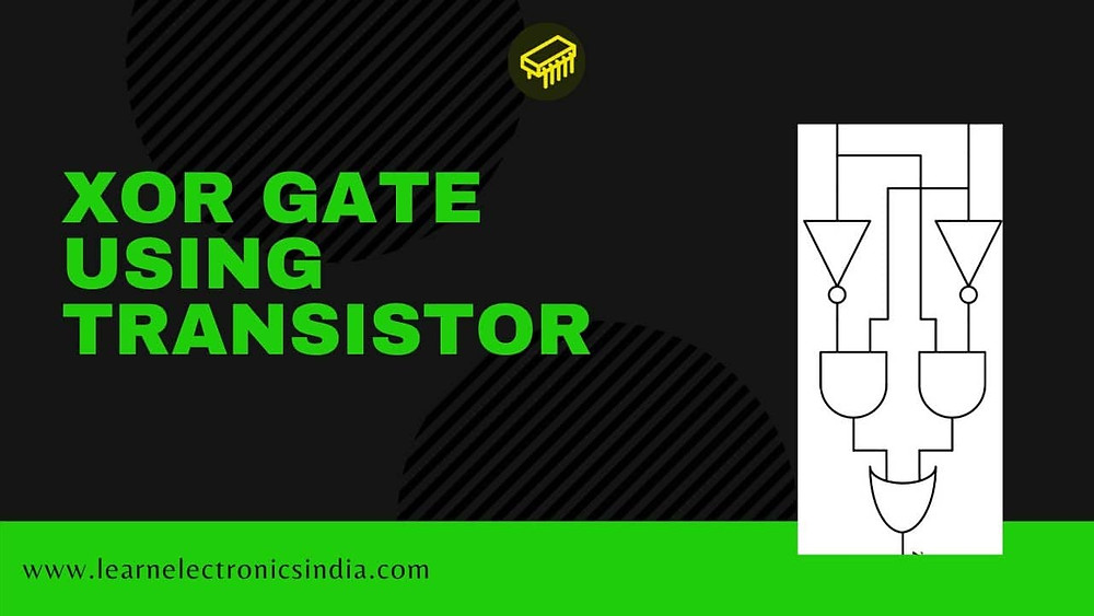 EX-OR gate using a transistor
