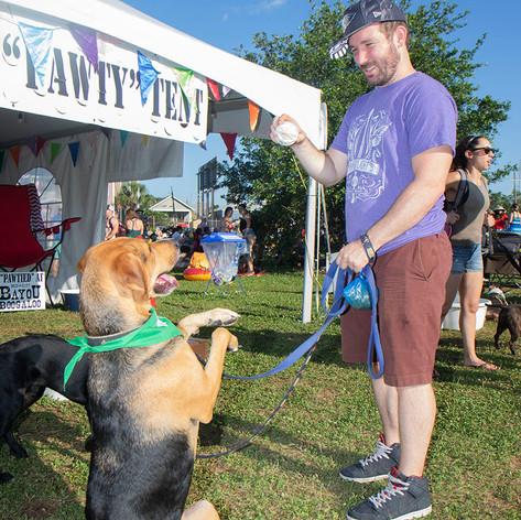 ohnny Hozen gets his dog Saint to do tricks