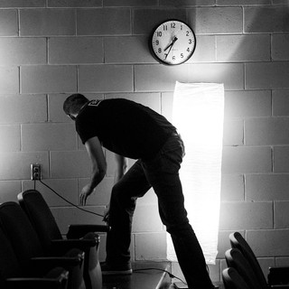 Jim is a regular volunteer to help The District Church set up their service every Sunday morning.