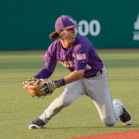 Kramer Robertson, LSU junior infielder, attempts to make a play on a skipped ground ball in a game at Tulane University in New Orleans, La. on April 26, 2016. LSU fell to Tulane 1-4.
