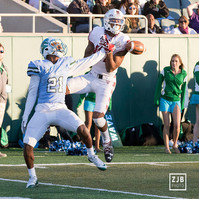 Tulane University defensive back Donnie Lewis Jr. breaks up a would-be touchdown in a game against Temple University at Yulman Stadium in 2016. Tulane lost to Temple 31-0.