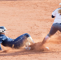 George Washington University infielder Jenna Cone slides into second base during a game against Morgan State University on Saturday, February 29, 2020. The Colonels beat the Bears 9-0 in 5 innings.
