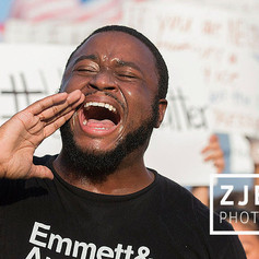 Black Lives Matter protest, Lee Circle, New Orleans 2016