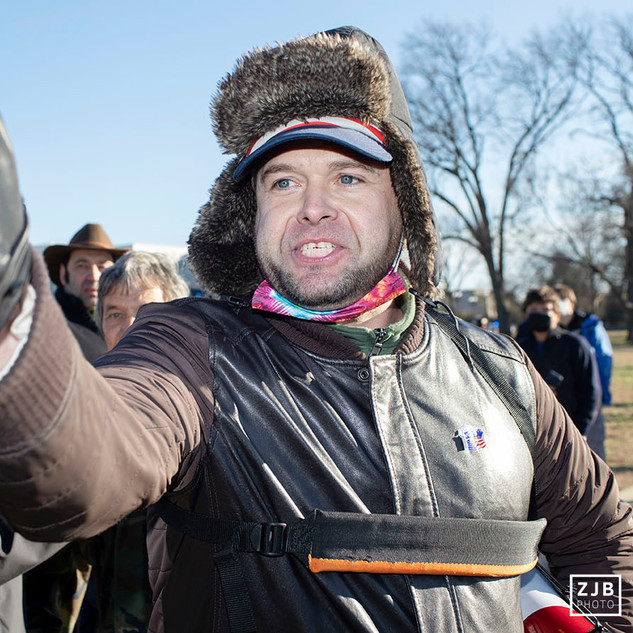 A supporter of former president Donald Trump gets in an argument outside of the U.S. Capitol on January 7, 2020. The day before, thousands of the former president's supporters stormed the Capitol, some pushing past police and breaking into the building. The event has lead to several deaths and multiple arrests so far.