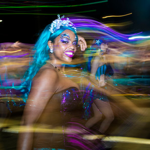 The Sirens of New Orleans march with Mystic Krewe of Nyx in 2018. This photo was made for the Uptown Messenger.
