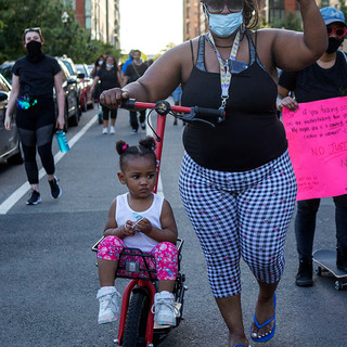 BLM protesters marched around DC on May 30, 2020. This march was a part of continued turmoil around the nation in the wake of the killing of George Floyd by Minneapolis police officer Derick Chauvin, who was fired and arrested on third-degree murder and second-degree manslaughter charges.