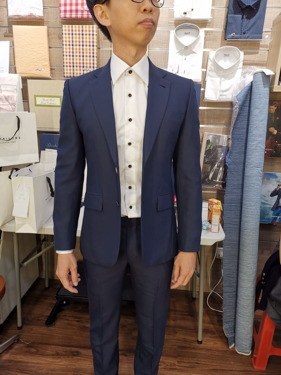 HST Tailor groom suit for wedding
