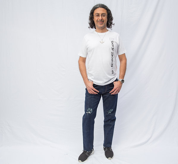 Farrokh Madon's Paw Print Cut-Out Jeans