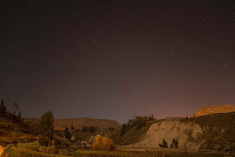 noche en el valle del colca