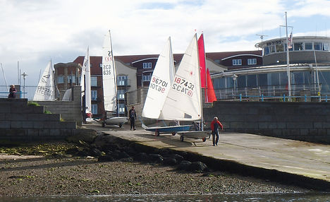 Launching the Dinghies