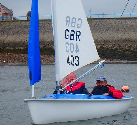 Sailing an Access dinghy
