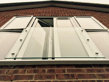 Frameless Glass Juliet Balcony Installed in Swindon
