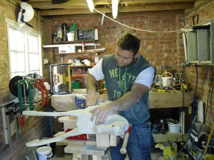 Me Carving In The Workshop