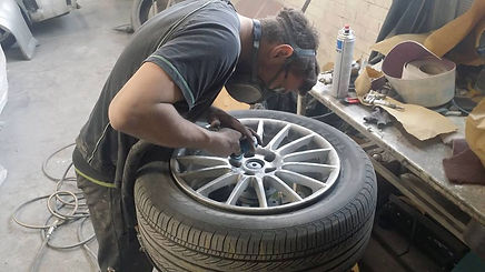Preparing Alloy Wheel in Leicester for Refurbishment