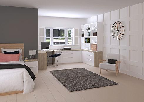 Home Office Ava Plus White