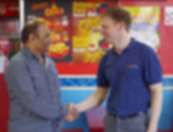 Meeting a commercial customer in Birmingham