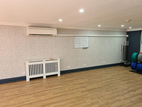 Air Conditioning Installed in a Home Gym