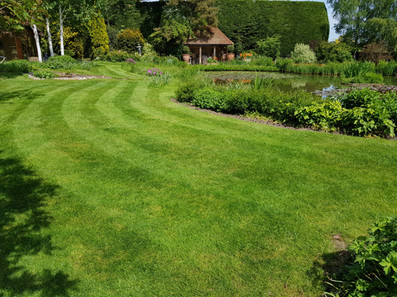 Mowing large garden