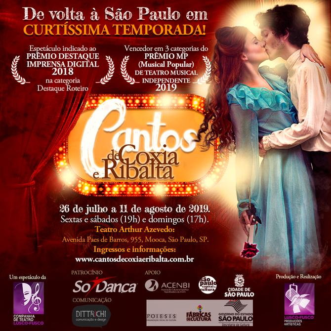 Premiado, espetáculo está de volta a São Paulo em curtíssima temporada