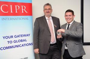Alastair McCapra, CIPR chief executive, congratulated the winner