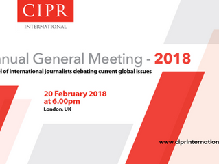 CIPR International to hold AGM on 20 February 2018
