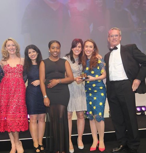 The winning team at 2015 CIPR Excellence award ceremony