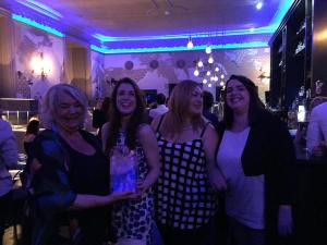 Eva Maclaine, CIPR International Chair, with Arianne Williams, Lauren Old, and Hannah Lennox at the Northern Insight magazine launch party