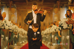 Cortejo com  violinista
