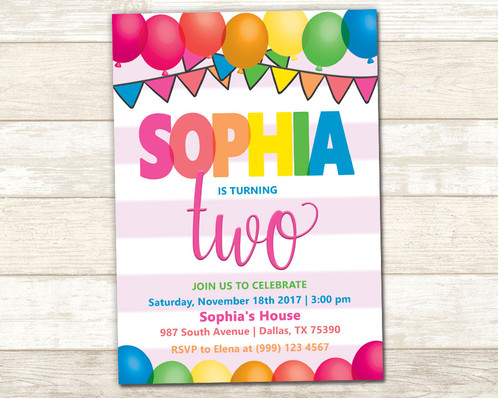 Balloon party invitation balloon birthday party invitation filmwisefo