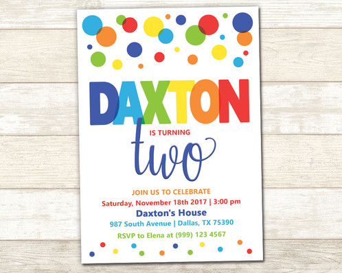 Polka dot party invitation polka dot birthday party invitation filmwisefo