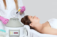 Cosmetologist does prp therapy on the fa