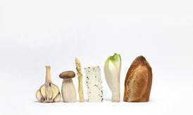 Composition de légumes Blanc