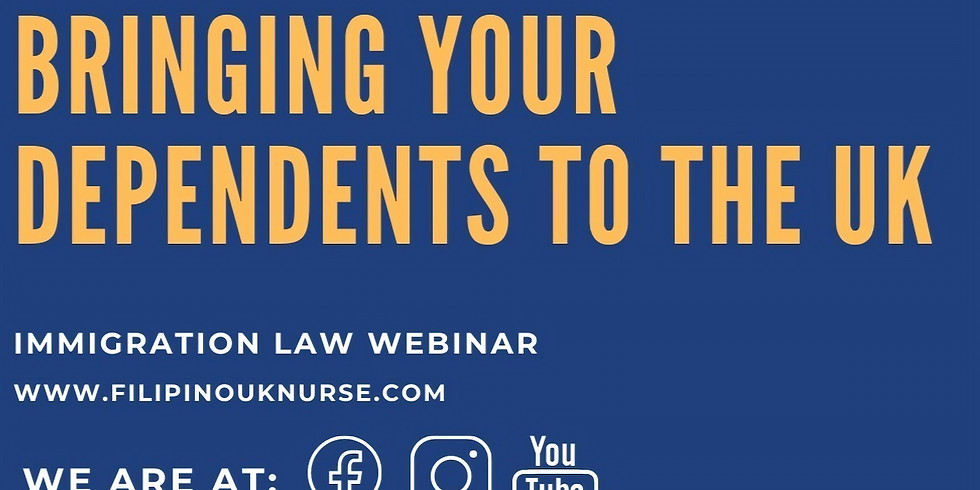 Webinar: Bringing your Dependents to the UK