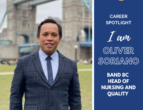 Career Spotlight: Oliver Soriano - His Journey as a Band 8C Head of Nursing & Quality