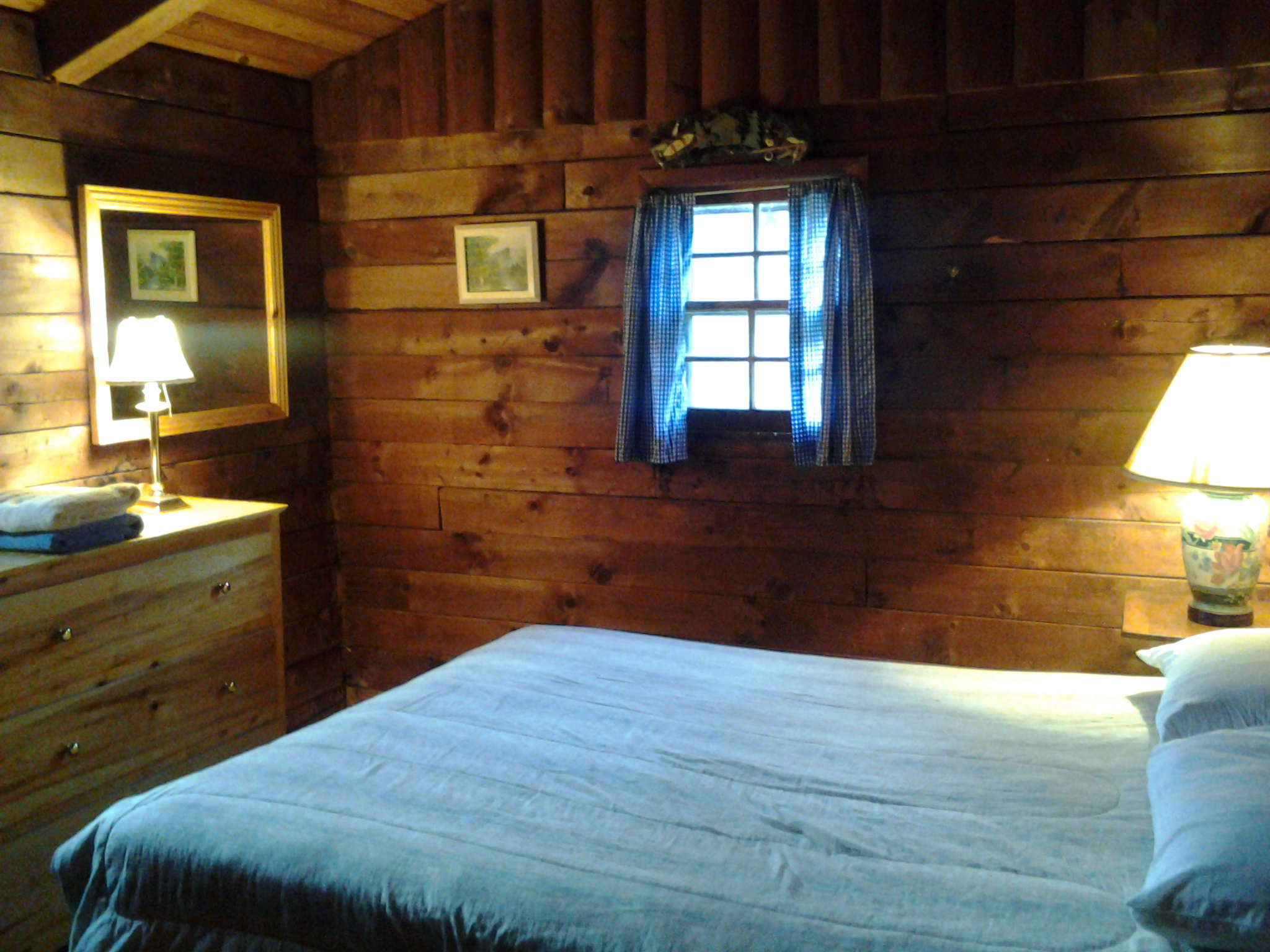 Master Bedroom in Catskills Cabin