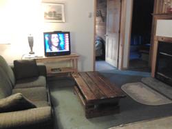 Living room in Catskills Cabin