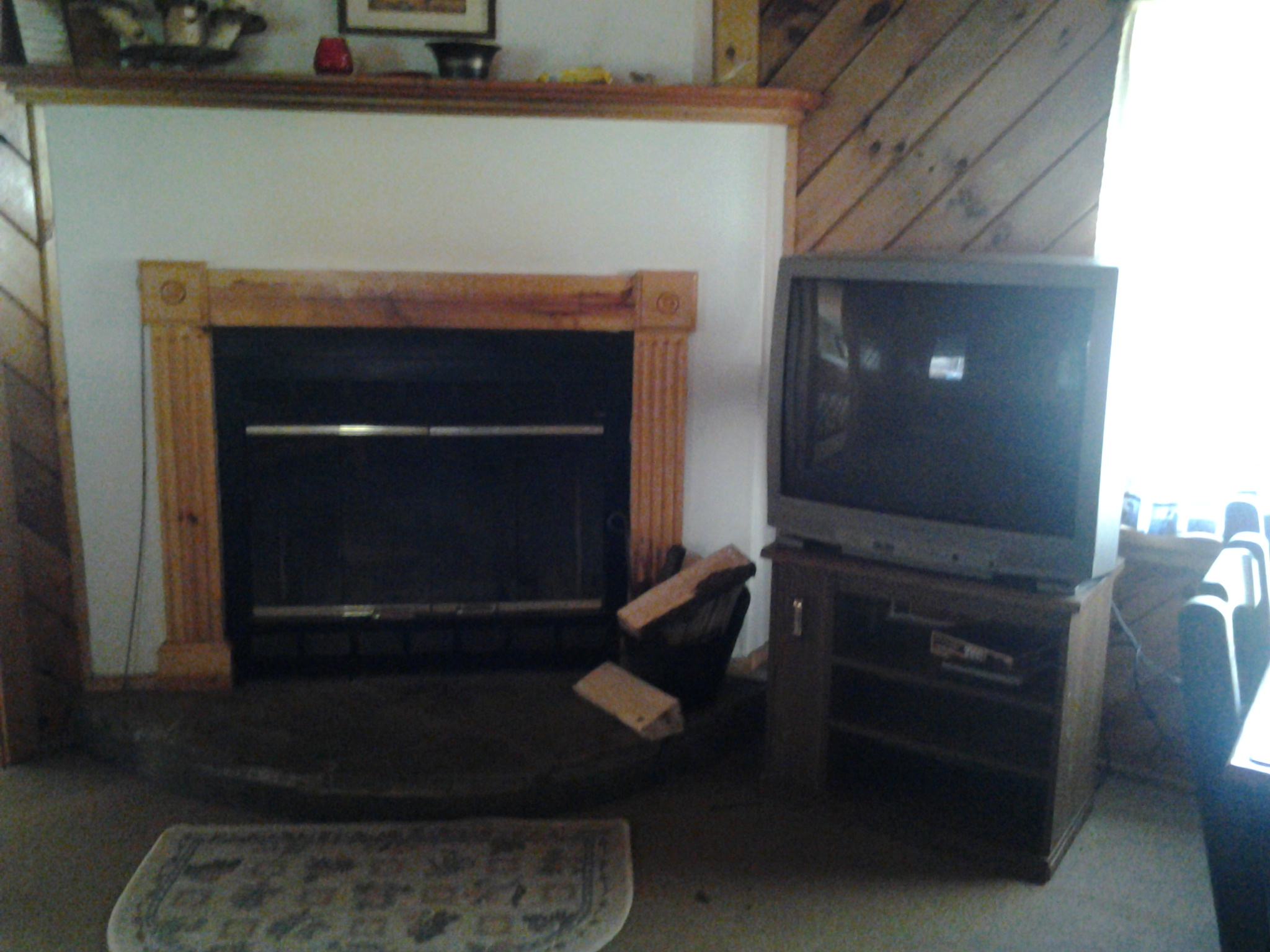 Real Wood-Burning Fireplace in Cabin