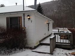 Side Deck with BBQ winter ski rental