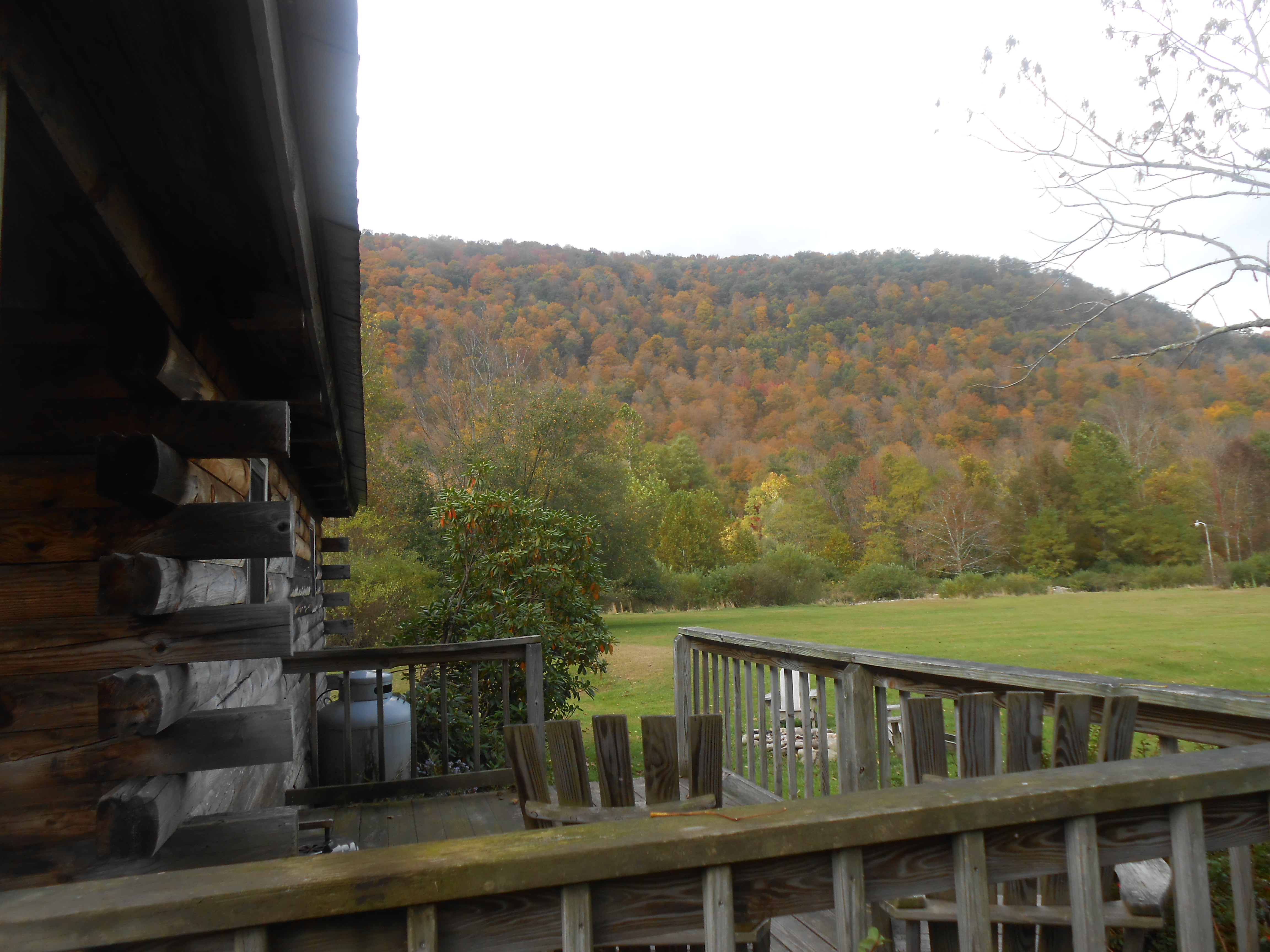 Outdoor Deck with mountain view