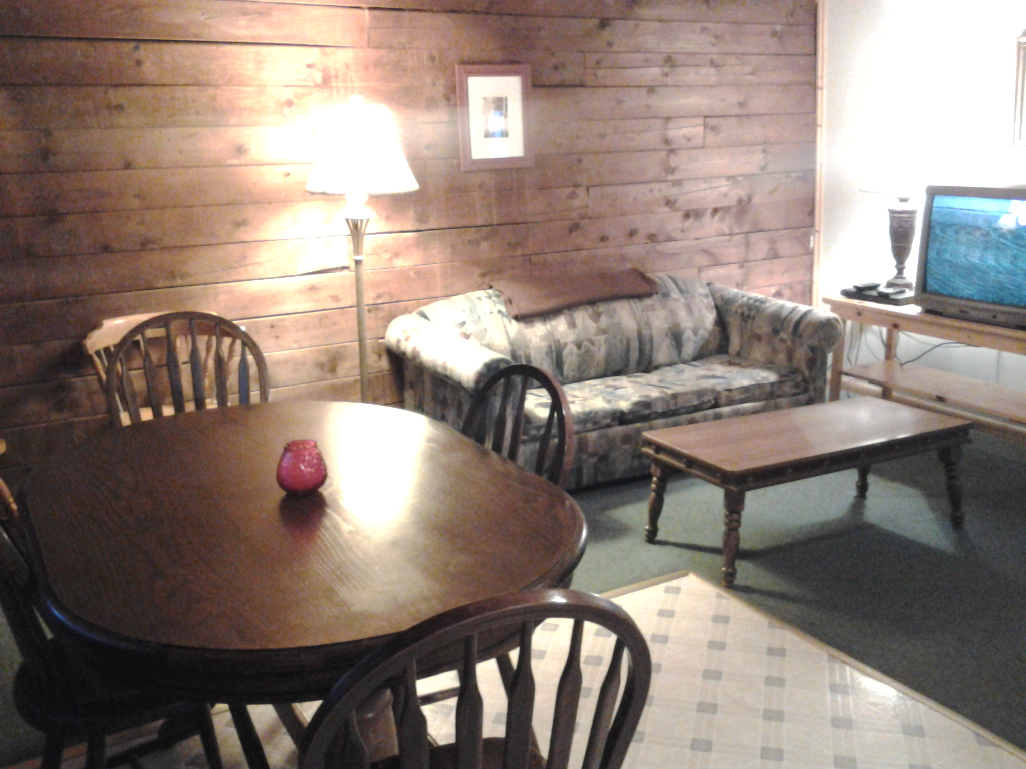 Living room Rustic Log Cabin Rental