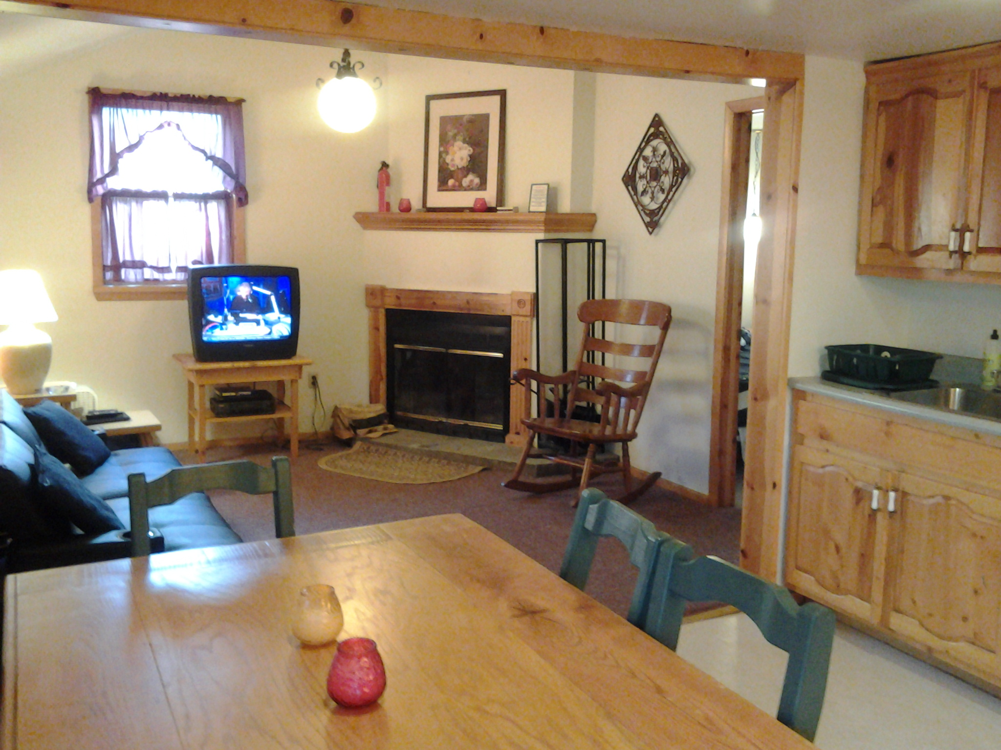 Living Room in Catskill Cabin Rental