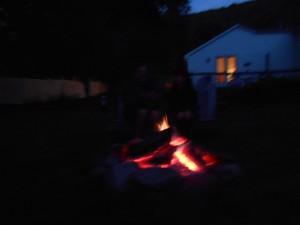 Firepit at catskills cabin