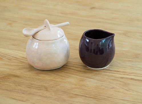 MARGO   Handmade sugar bowl and creamer