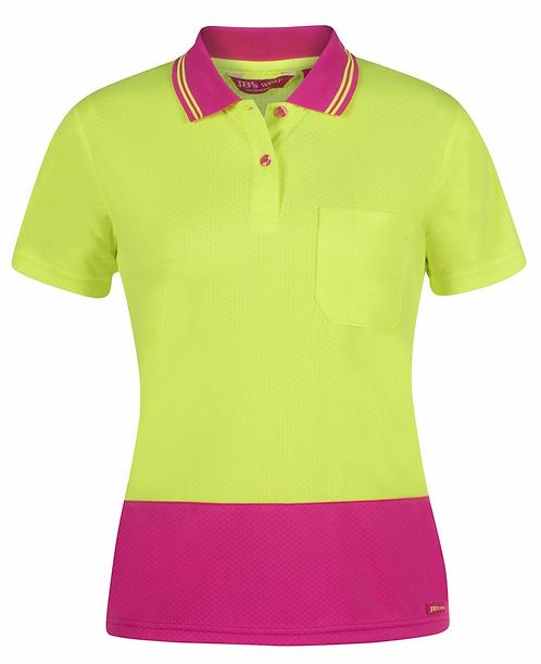 Pink/lime Ladies Hi Vis Polo