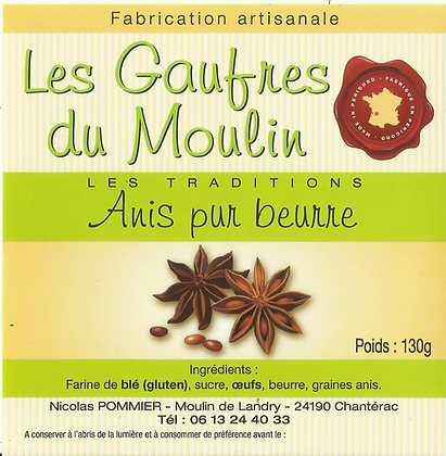 Gaufres Artisanale Pur Beurre a l'Anis