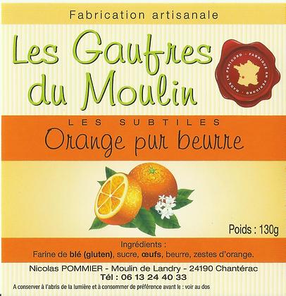 Gaufres Artisanale a l'orange