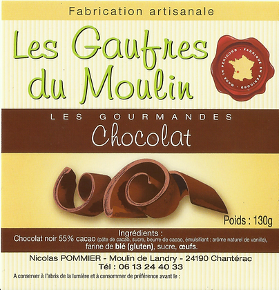 Gaufres Artisanale au chocolat